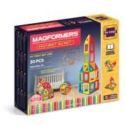 Set magnetic de construit- Set de baza Magformers, 30 piese