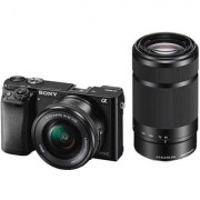 Sony ILCE-6000Y/B (24.3 MP) DSLR (Black) with SELP1650 SEL55210 Lens + Carry Case + 8GB SD Card