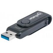 Mini Lettore/Scrittore di Card USB 3.0, 24 in 1 Nero