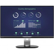 "Monitor LED IPS Philips, 25"", QHD, VGA, DVI, HDMI, Display Port, Negru, 258B6QUEB"