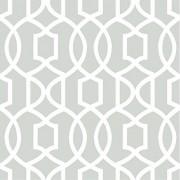 NuWallpaper NU1421 Peel and Stick Wallpaper Grey Grand Trellis
