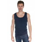 Royal Apparel Unisex 2X1 Rib Tank Top T Shirt Navy 4051