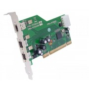 Placa Firewire IOI FWB-PCIE 1x20, 3 x Firewire 800, Pci-e 1x
