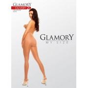 Glansig plus size strumpbyxa Ouvert 20 från Glamory black 4XL