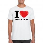 Bellatio Decorations I love volleybal t-shirt wit heren