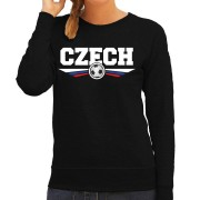 Bellatio Decorations Tsjechie / Czech landen / voetbal sweater zwart dames