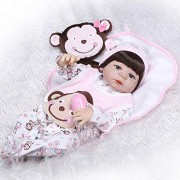 New Arrival 56CM/22inch 3D Jointed Lifelike Reborn Doll Soft Silicone Newborn Baby Dolls Playmate