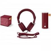 Подаръчен комплект Fresh & Rebel Ruby, Powerbank 3000 + CUBE + CAPS, Червен, FNR-GIFTPACK-RU