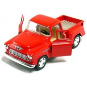 """12 pcs in Box: 5"""" 1955 Chevy Stepside Pickup 1:32 Scale (Black/Blue/Red/Yellow)"""