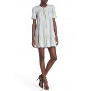 BCBGeneration Short Sleeve Print Dress OPTIC WHITE MULTI