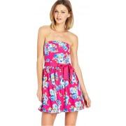 Forever 21 Rochie pentru femei Garden Party Tube Dress-roz S
