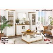 1a Direktimport Couchtisch Wohnzimmertisch MEXICO, Pinie weiß / honig, Landhausstil Möbel, shabby