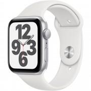 Smartwatch Apple Watch SE GPS, 40mm, Carcasa Silver Aluminium, Bratara White Sport Band