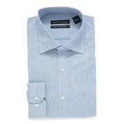 【83%OFF】TRIM FIT セミワイドカラー 長袖シャツ ブルー 16.5/34 ファッション > メンズウエア~~その他トップス