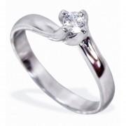 Anillo De Compromiso Solitario Diamond Desing Diamante Natural 10 Puntos Con Montadura De Oro Blanco De 14 Kilates