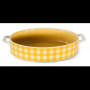 RKO Tava ceramica oval pentru copt, galben, 27.3x16.5x5cm, Kare, 0108118,