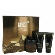 Montblanc Legend Night by Mont Blanc Gift Set -- 3.3 oz Eau De Parfum Spray + 3.3 oz After Shave Balm + 3.3 oz Shower Gel