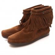 【SALE 23%OFF】ミネトンカ MINNETONKA HI TOP BACK ZIP(DUSTY BROWN) レディース