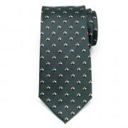 Férfi selyem nyakkendő (minta 356) 7958 -ban zöld szín