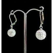 Lafira stříbrné náušnice Swarovski Ball Crystal 021