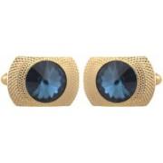 Tripin Brass Cufflink(Gold, Blue)