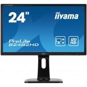 "iiyama ProLite B2482HD-B1 24"" Full HD TN Matt Black Flat computer monitor LED display"