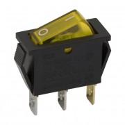 Kapcsoló billenő,világító 2 állás 10A 250V 09050SA sárga