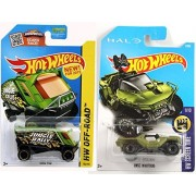 Halo Hot Wheels UNSC Warthog Jeep 2017 New Model & Aero Pod pack Video Game Screen Time & Off-Road Truck & Jungle Jeep New Casting 2015
