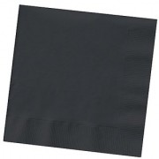 Creative Converting Touch of Color 200 Count 2-Ply Paper Beverage Napkins Black Velvet