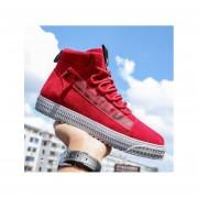 Zapatos de tabla plana tobillo punta redonda fashion-cool-hombre-rojo