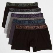 River Island Mens Black metallic waistband trunks multipack - Size M (
