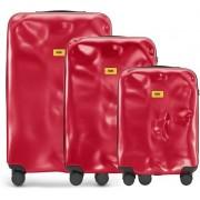 Crash Baggage Walizki Icon w zestawie 3 el. matowy czerwony