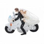 """Figurina pentru tort """" Miri pe motocicleta """""""