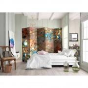 Spanische Wand mit bunten Tautropfen und Blumen fünf Elementen