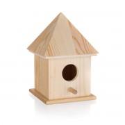 Căsuță păsări, din lemn, 10,4 x 10,4 x 15,5 cm