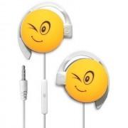 Start Auricolare A Filo Stereo Smile-05 Headphones Jack 3,5mm Universale Per Musica Yellow Per Modelli A Marchio Emporia
