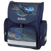 Ghiozdan ergonomic, neechipat, HERLITZ Mini Blue Racer