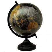 Rotating Desktop Globe World Earth Black Ocean Table Décor Globes 12.2'