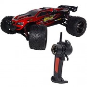 Babrit F11 High Speed 1/12 Scale RC Car 2.4Ghz 2WD Remote Control Trucks Radio Remote control Off Road Truck Off-Road 40+KM/H for Children-Red color