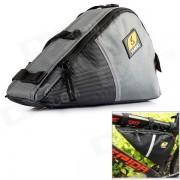 YANHO Bolsa de triangulo de tubo delantero de 1310 Oxford Fabric - Negro + Gris