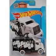 Hot Wheels, 2015 HW City, Hiway Hauler 2 [White Cab/Black Trailer] Die-Cast Vehicle #28/250 by Hot Wheels