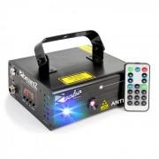 Anthe II Projetor Laser de Feixe Duplo 9 W RGB 12 Gobos DMX 7 Master/Slave