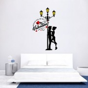 EJA Art valentine Love You Wall Sticker (Material - PVC) (Pec - 1) With Free Set of 12 pec butterflies sticker