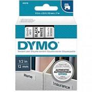 Dymo Cinta para rotuladora DYMO 45013 negro sobre blanco 12 mm x 7 m