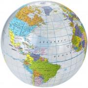 Minge de plaja gonflabila, glob pamantesc, Everestus, EGB017, pvc, transparent, multicolor