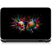 VI Collections Colorful Ghost Printed Vinyl Laptop Decal 15.5