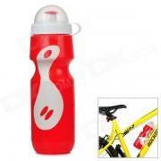GUB PRO bicicletas PE botella de agua - rojo + blanco (650 ml)