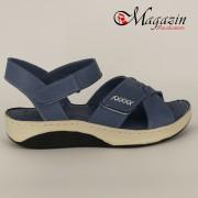 Sandale Dama din Piele Naturala Albastru - Talpa Antistres - Caspian Sea - 1152