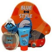 The smurfs brainy confezione regalo 100ml edt + 75ml gel doccia + portachiavi