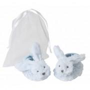 Happy Horse Blauwe Happy Horse konijnen baby slofjes